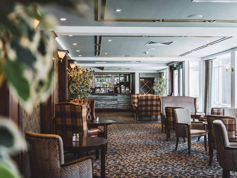 The lounge and bar at the Dunadry Hotel, Antrim